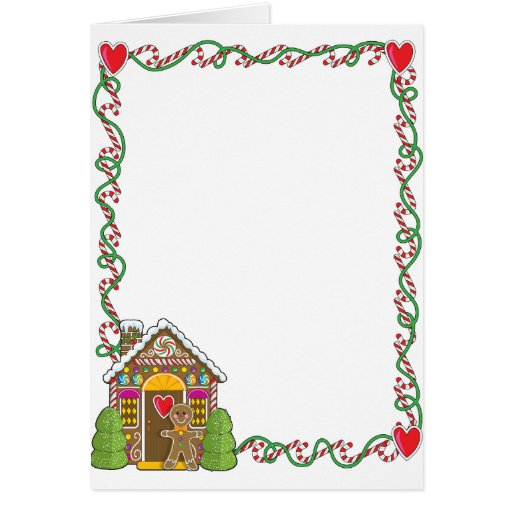 Gingerbread House Corner Greeting Card