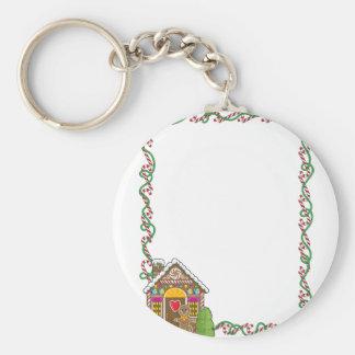 Gingerbread House Corner Keychain