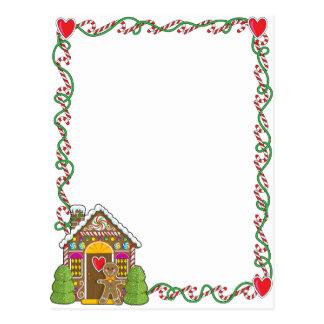 Gingerbread House Corner Postcard