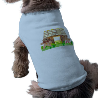 Gingerbread House Couple Dog T-Shirt