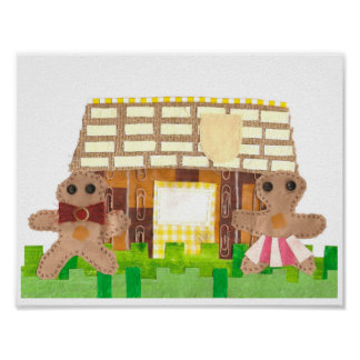 Gingerbread House Couple Poster