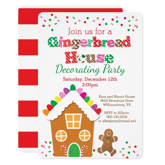 Gingerbread House Decorating Party Invitation Zazzle Com