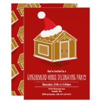 Gingerbread House Decorating Party Invitation
