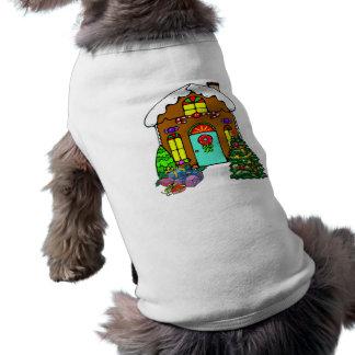 Gingerbread House Pet Tshirt