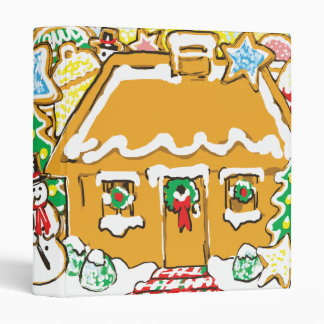Gingerbread House Frosted Cookies Christmas Scene Binder