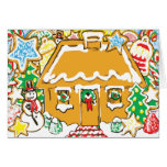 Gingerbread House Frosted Cookies Christmas Scene Cards