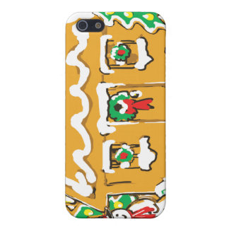 Gingerbread House Frosted Cookies Christmas Scene Cases For iPhone 5