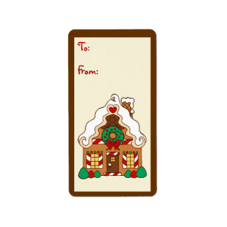 Gingerbread  House Gift Tag Label Address Label