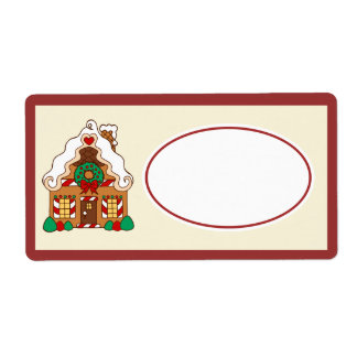 Gingerbread  House Gift Tag Label Shipping Label