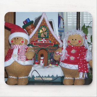 Gingerbread House&Gingerbread Couple Mouse Pad