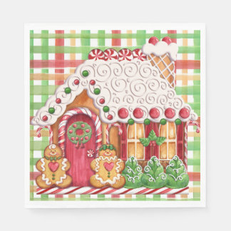 Gingerbread House Gingerbread Family Napkin