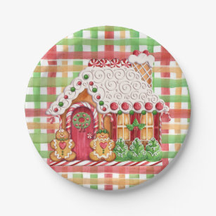 Gingerbread House Gingerbread Family Paper Plate  sc 1 st  Zazzle & Gingerbread Man Plates | Zazzle