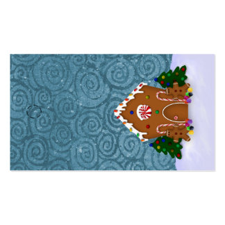 Gingerbread House Hang Tag Business Card