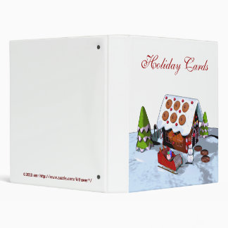 Gingerbread House Holiday Card Binder