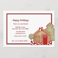 Gingerbread House Holiday Moving Announcement