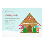 Gingerbread House Holiday Party Invitation Personalized Invite