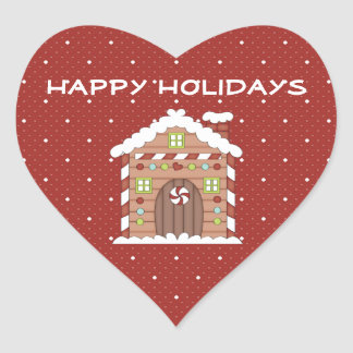Gingerbread House Holiday Stickers