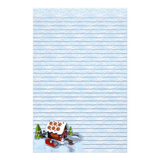 Gingerbread House Holiday Writing Paper