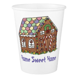 Gingerbread House Home Sweet Home Christmas Xmas Paper Cup