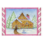 Gingerbread House Invitation