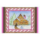 Gingerbread House Invitation Card