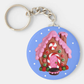 Gingerbread House Keychain