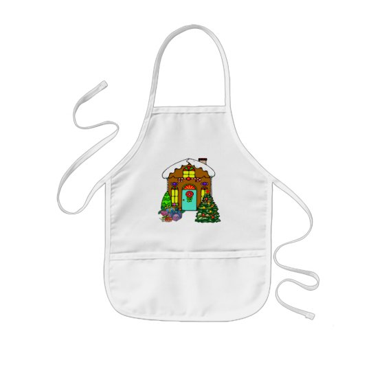 Gingerbread House Kids' Apron