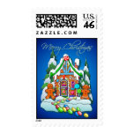 GINGERBREAD HOUSE & KIDS by SHARON SHARPE Stamp