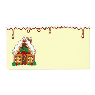 Gingerbread House Kitchen Label Shipping Label