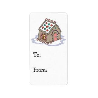 gingerbread house address label