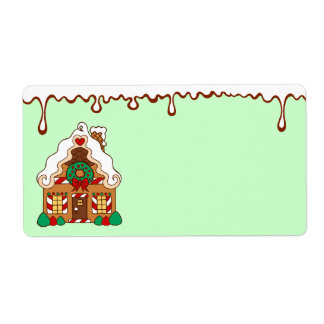 Gingerbread House  Labels