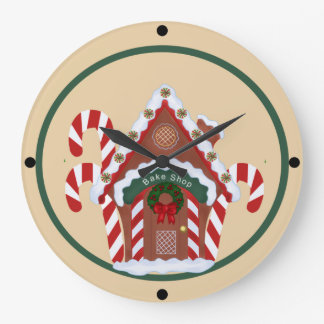 Gingerbread House Large Clock