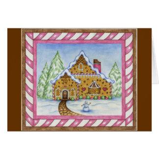 Gingerbread House Lodge Card