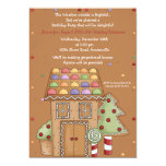 Gingerbread House - Photo Birthday Party Invitatio Personalized Invitations