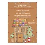 Gingerbread House - Photo Birthday Party Invitatio Personalized Invitations