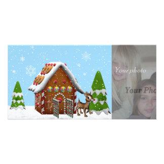 gingerbread house photocard photo card