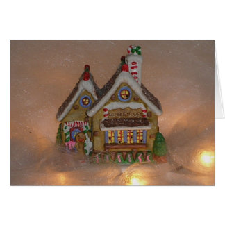 Gingerbread House Porcelain Greeting Card