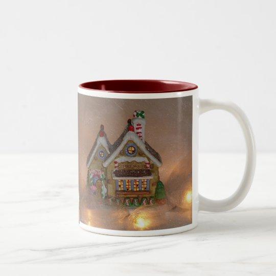 Gingerbread House Porcelain Two-Tone Coffee Mug