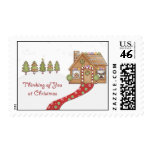 Gingerbread House Postage Stamp
