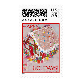 Gingerbread House Postage Stamps
