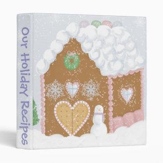 Gingerbread House Recipe Binder