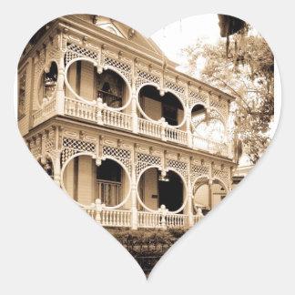 Gingerbread House - Savannah, GA Heart Sticker