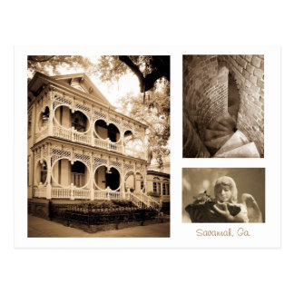 Gingerbread House - Savannah, GA Postcard