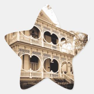 Gingerbread House - Savannah, GA Star Sticker