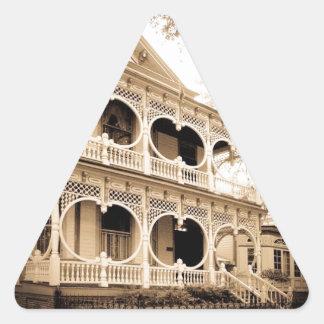 Gingerbread House - Savannah, GA Triangle Sticker