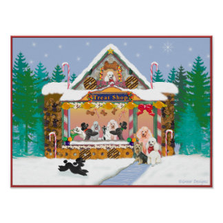 Gingerbread House Treat Shop Poster Print