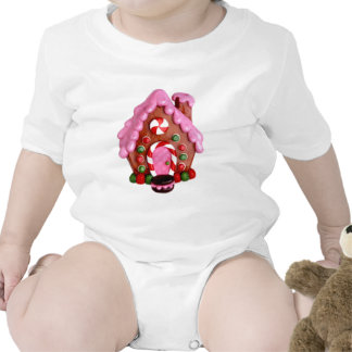 Gingerbread House Baby Bodysuits