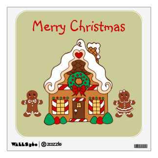 Gingerbread House Wall Decal