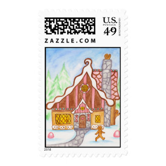 Gingerbread House Wave Postage