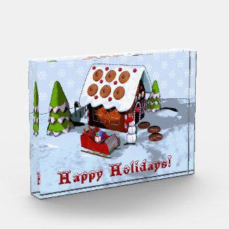 Gingerbread House Winter Scene Acrylic Block